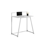 Angled Computer Desk for Children - White Metal
