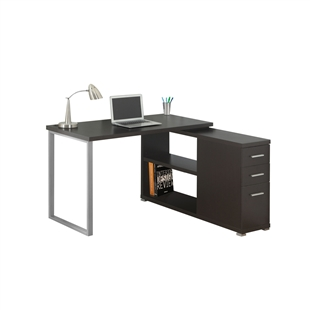 Contemporary Metal Corner Desk