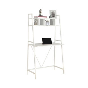 Compact Ladder Computer Desk - White