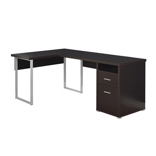 2-Drawer Corner Computer Desk