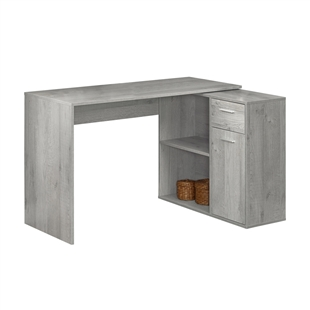 Open Drawer Contemporary Corner Desk