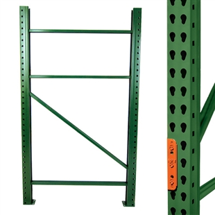 Teardrop Pallet Rack Upright Frames