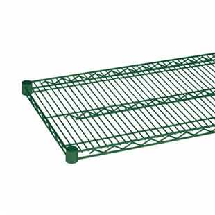"21"" Green epoxy coated wire shelf"