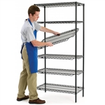 Metro QwikSlot Kit w/ 4 Shelves - Black