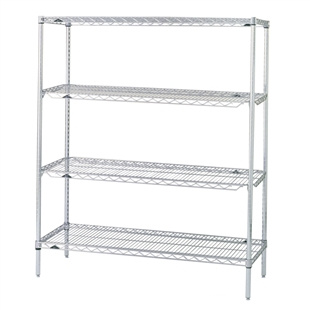 Metro QwikSlot Kit w/ 4 Shelves - Chrome
