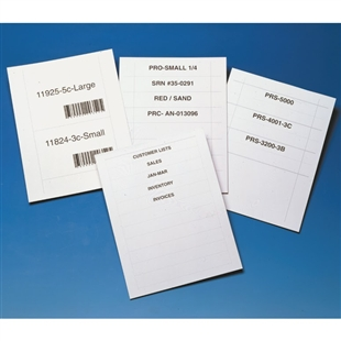 "Label Inserts <1""h"
