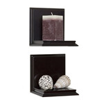 Two piece wall sconce set in espresso