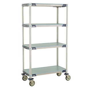 MetroMax i 4-Shelf Stem Caster Carts w/ Solid Mats