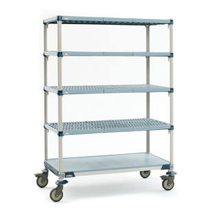 "24""d x 80""h MetroMax Q 5-Shelf Mobile Units"