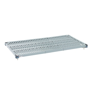 "21""d MetroMax Q Antimicrobial Shelves w/ Grid Mat"