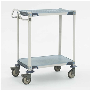 MetroMax Antimicrobial 2-Shelf Utility Carts