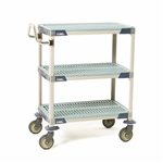 MetroMax Antimicrobial 3-Shelf Utility Carts