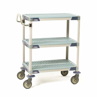 MetroMax i Antimicrobial 3-Shelf Utility Carts