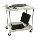 "18""d 2-Tier Chrome-Plated myCart"