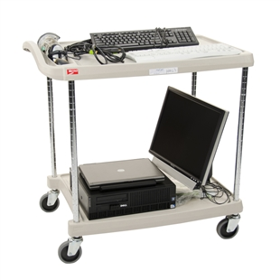 "27""d 2-Tier Chrome-Plated myCart"