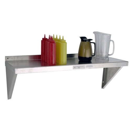 "Restaurant Kitchen Metal Shelves 12""d aluminum wall shelves"