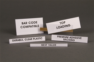 Open-Edge Top-Loader Label Holders - 50pk