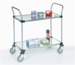 Two Shelf Stainless Steel Utility Cart