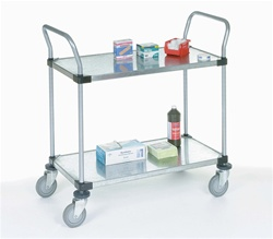 Two Shelf Galvanized Steel Utility Cart