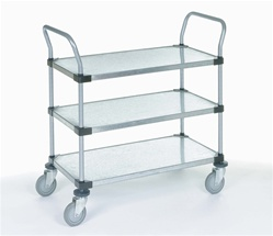 3-Shelf Galvanized Steel Utility Carts
