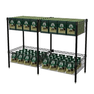"Standard Basket Shelving w/ ""S"" Hook"