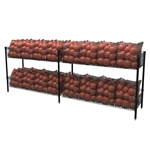 "Double-Wide Basket Shelving w/ ""S"" Hook"