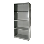 "Closed Steel 5-Shelf Units - 12""d x 87""h"