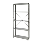 "Open Steel 5-Shelf Units 12""Depth"
