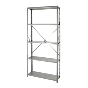 "Open Steel 5-Shelf Units - 24""d x 87""h"
