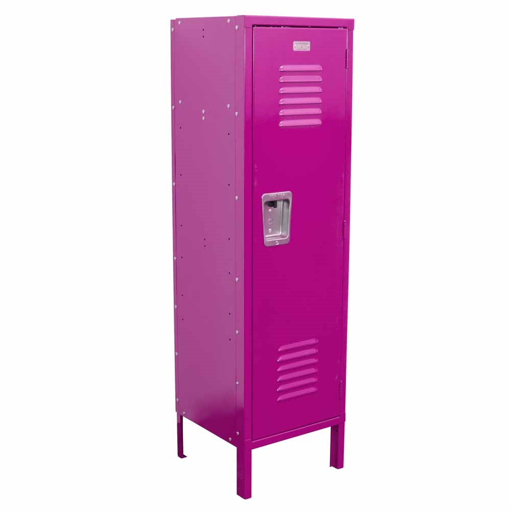 Kids locker with legs hot pink for Lockers for kids room