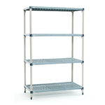 "21""d x 63""h MetroMax Q 4-Shelf Starter Units"
