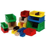 "7""d x 4""w Ultra Stacking and Hanging Bins - 24 Pack"