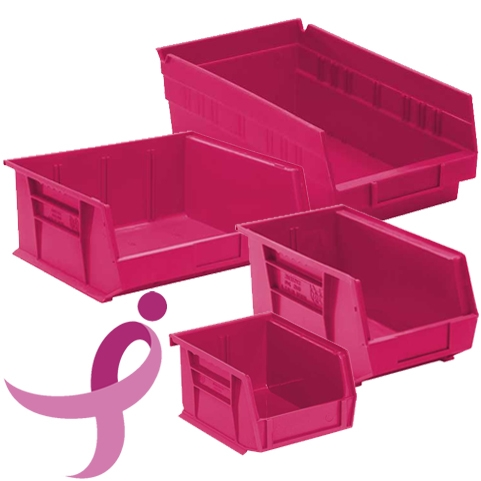 pink for the cure stacking u0026 hanging heavyduty plastic bins