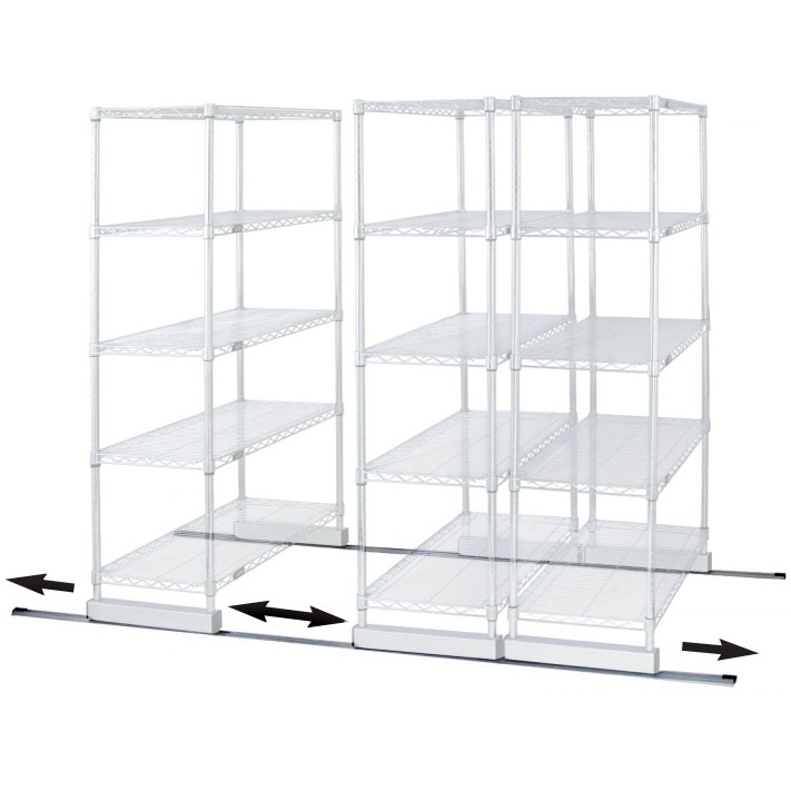 Single Track Kit for Wire Shelving by Quantum | Shelving.Com