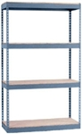 12 x 36 x 60 Nexel Double Rivet Boltless Shelving in grey, holds up to 1500 lbs per shelf.