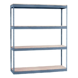 "12""d x 48""w x 60""h - 4-Tier Double Rivet Shelving"