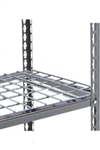 "Heavy Duty Double Rivet Boltless Shelves sold individually to increase storage capacity of existing units- 3"" wire mesh decking included."