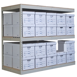 3-Level Record Storage Shelving Add-On Units