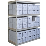 4 Level Record Storage Rivet Shelving Add On Units