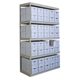 5 Level Record Storage Rivet Shelving Add On Units