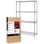 "Quantum 24""d Residential Grade Wire Shelving"