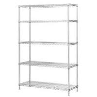 "18"" D Stainless Steel Wire Shelving with 5 Shelves"