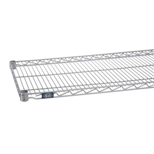 "18""d Silver EP Wire Shelves"