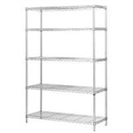 "24""d Stainless Steel Wire Shelving with 5 Shelves"