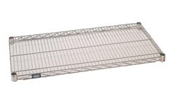 "24""d Poly Z Brite wire shelves"