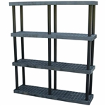"DuraShelf 66""w 4-Shelf System"