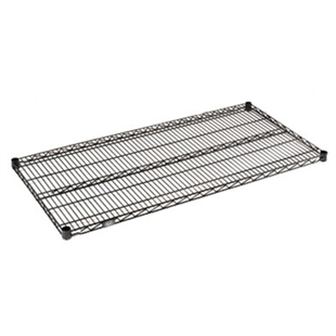 "24""d black wire shelves"