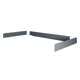 "Side & Back Rail Kit for Tennsco Workbenches - 30""D"