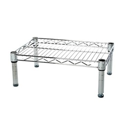 "Industrial Wire Shelving Unit with 1 Shelf - 12""d"