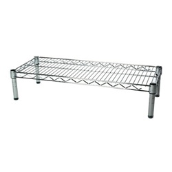 "Industrial Wire Shelving Unit with 1 Shelf - 14""d"